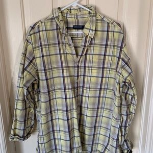 Men's plaid dress shirt